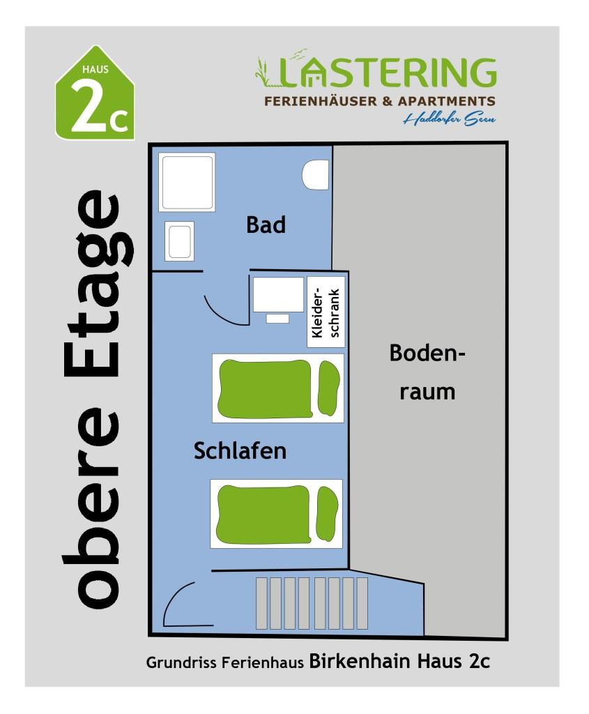 Grundriss Birkenhain 1 Haus 2 Obergeschoss 2c